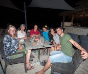 Group diner in Bonaire