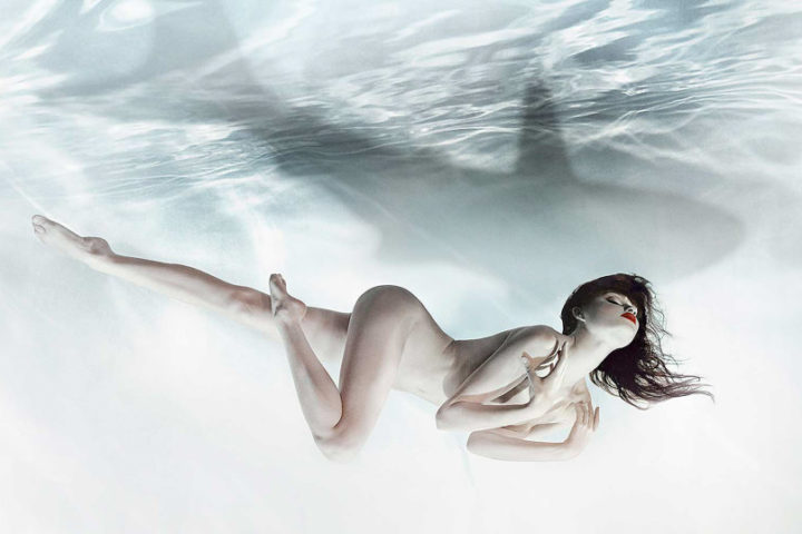 Woman and Shark- Zena Holloway