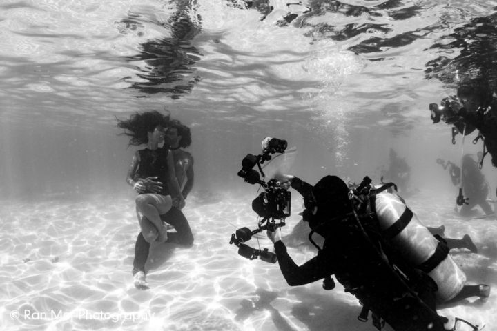 Behind the scenes - underwater fashion workshop