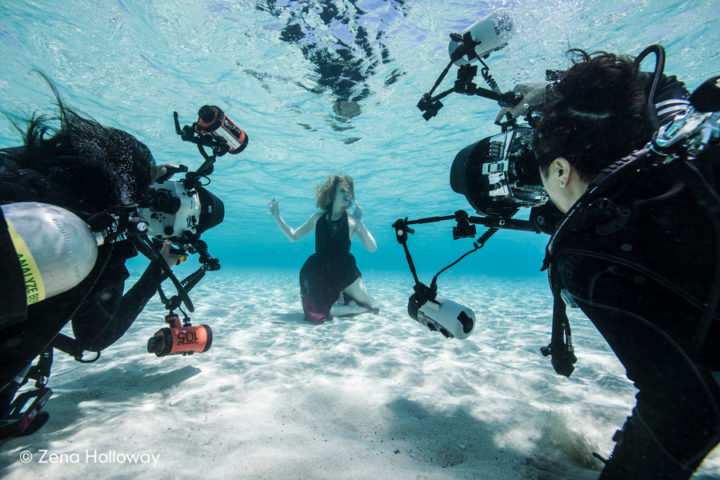 Underwater fashion workshop with Zena Holloway