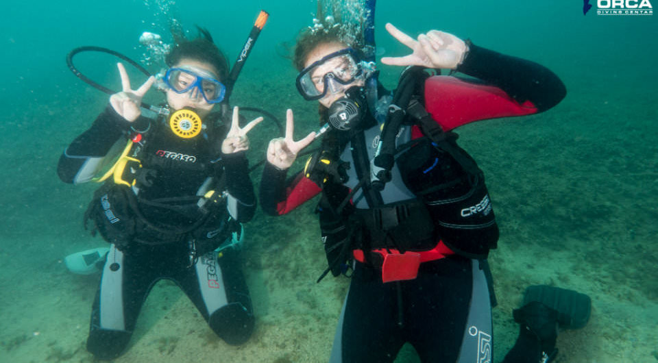 Kids on a dive trip
