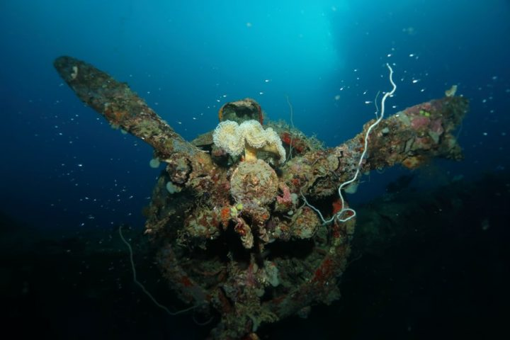 World war II wreck Solomon Islands
