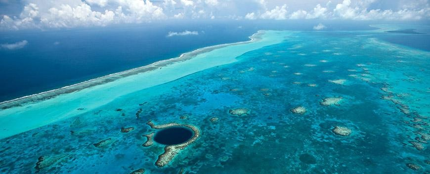 Aerial view of the Great Blue Hole